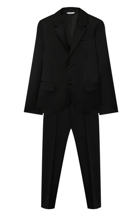 Детский костюм из шерсти DOLCE & GABBANA черного цвета, арт. L41U59/FJ2BF/8-14 | Фото 1