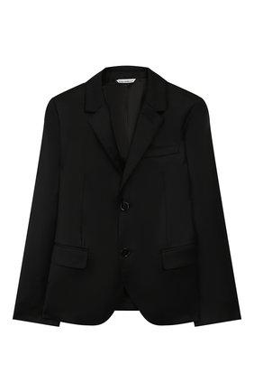Детский костюм из шерсти DOLCE & GABBANA черного цвета, арт. L41U59/FJ2BF/8-14 | Фото 2