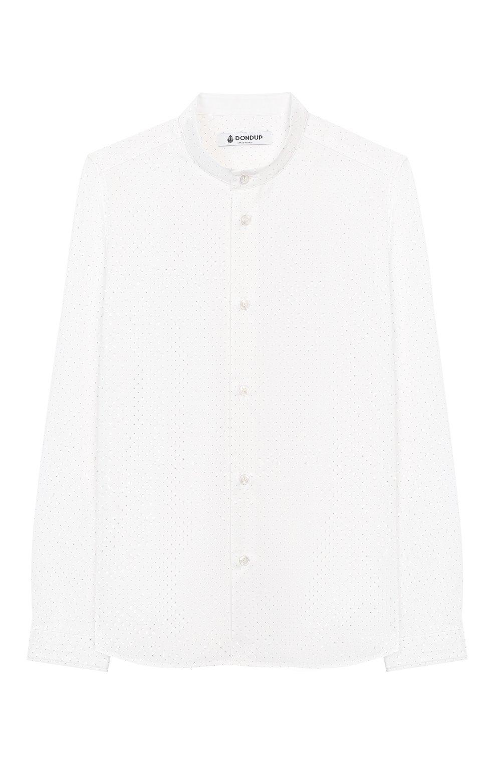Детская хлопковая рубашка DONDUP белого цвета, арт. BC067/TY0004B/XXX | Фото 1