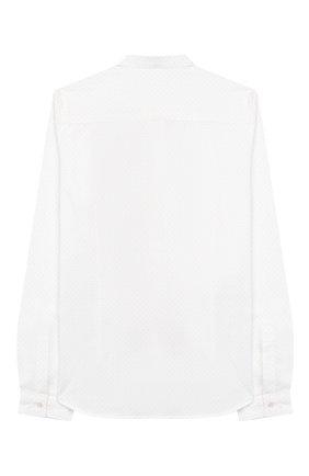 Детская хлопковая рубашка DONDUP белого цвета, арт. BC067/TY0004B/XXX | Фото 2