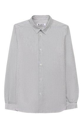 Детская хлопковая рубашка DONDUP серого цвета, арт. BC065/TY0007B/W57 | Фото 1