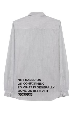 Детская хлопковая рубашка DONDUP серого цвета, арт. BC065/TY0007B/W57 | Фото 2