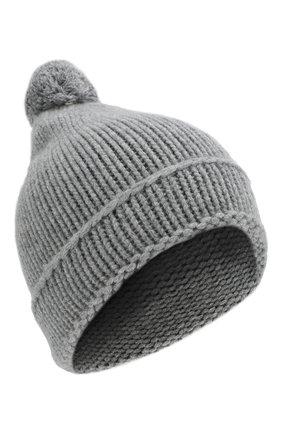 Мужская кашемировая шапка TEGIN светло-серого цвета, арт. 4873   Фото 1