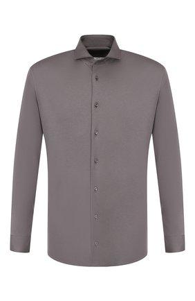 Мужская хлопковая рубашка VAN LAACK темно-серого цвета, арт. M-PER-L_180031_MW-J | Фото 1
