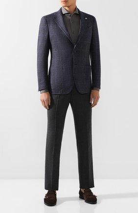 Мужская хлопковая рубашка VAN LAACK темно-серого цвета, арт. M-PER-L_180031_MW-J | Фото 2