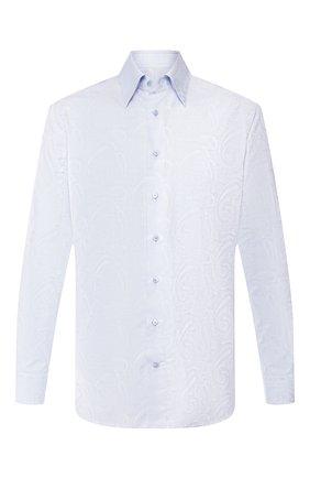 Мужская сорочка из смеси хлопка и шелка ZILLI голубого цвета, арт. MFS-MERCU-17080/RE01 | Фото 1