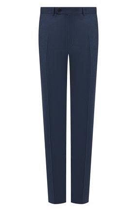 Мужской шерстяные брюки CANALI синего цвета, арт. 71012/AN00019/60-64   Фото 1