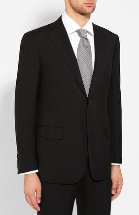 Мужской шерстяной костюм CORNELIANI черного цвета, арт. 847315L9818414/92 Q1 | Фото 2