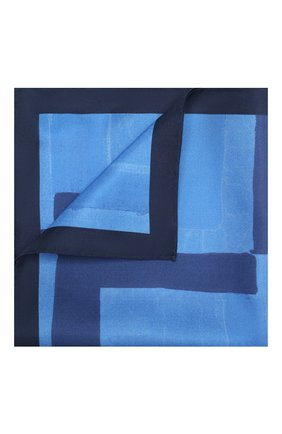 Мужской шелковый платок KITON синего цвета, арт. UP0CHCX02S67 | Фото 1