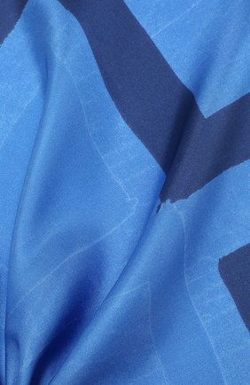 Мужской шелковый платок KITON синего цвета, арт. UP0CHCX02S67 | Фото 2
