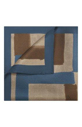 Мужской шелковый платок KITON коричневого цвета, арт. UP0CHCX02S67 | Фото 1