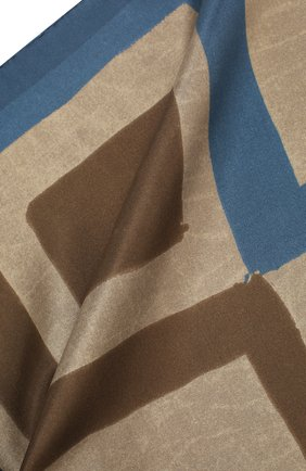 Мужской шелковый платок KITON коричневого цвета, арт. UP0CHCX02S67 | Фото 2
