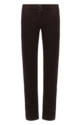 Мужской хлопковые брюки KITON коричневого цвета, арт. UFPPTMJ03S66   Фото 1