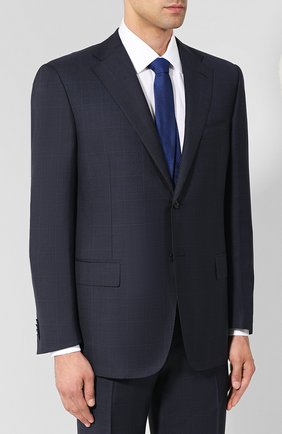 Мужской шерстяной костюм CORNELIANI темно-синего цвета, арт. 847315L9817013/92 | Фото 2