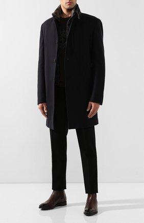 Шерстяное пальто с меховой отделкой | Фото №2