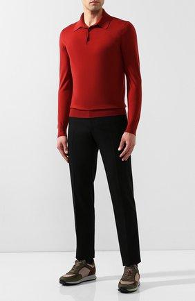 Мужское шерстяное поло ERMENEGILDO ZEGNA красного цвета, арт. UTM00/132 | Фото 2
