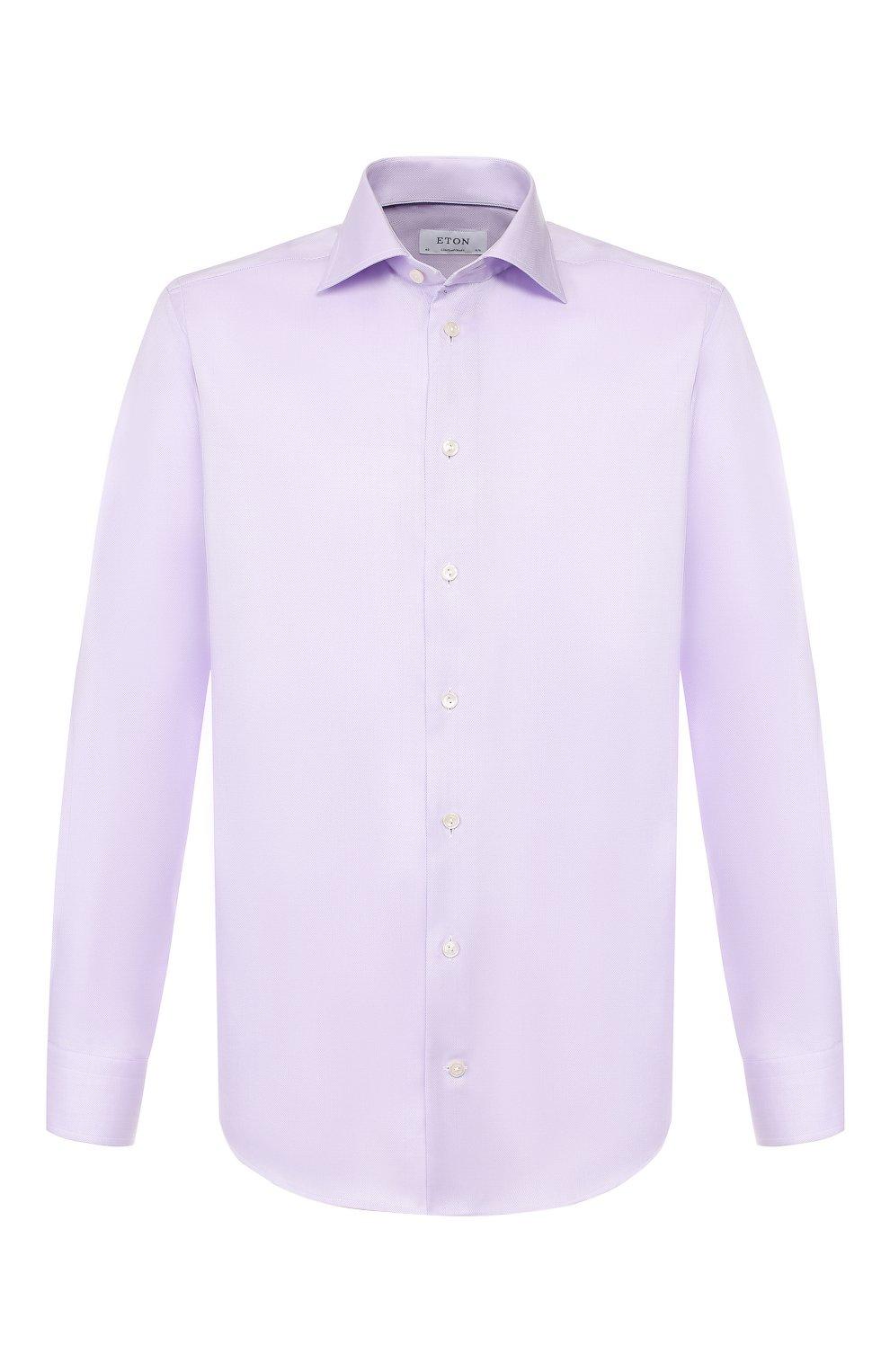 Мужская хлопковая сорочка ETON сиреневого цвета, арт. 3441 79311 | Фото 1
