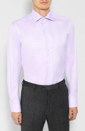 Мужская хлопковая сорочка ETON сиреневого цвета, арт. 3441 79311 | Фото 3