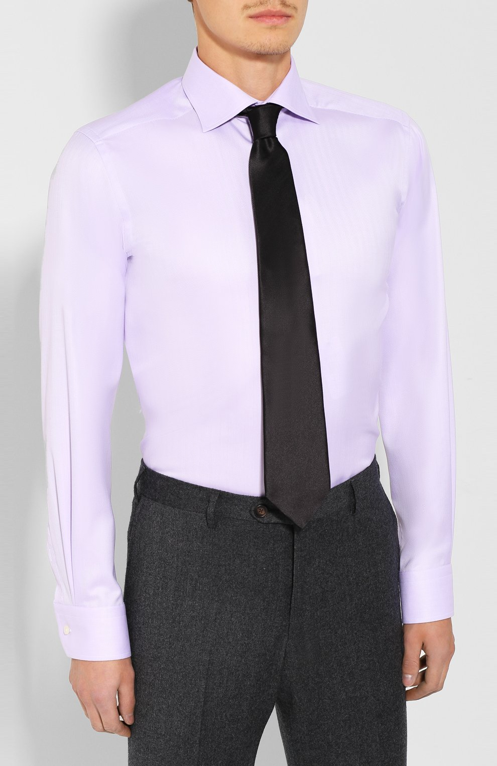 Мужская хлопковая сорочка ETON сиреневого цвета, арт. 3441 79311 | Фото 4