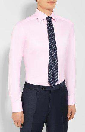 Мужская хлопковая сорочка ETON розового цвета, арт. 3441 79511   Фото 4 (Манжеты: На пуговицах; Рукава: Длинные; Воротник: Акула; Длина (для топов): Стандартные; Материал внешний: Хлопок; Случай: Формальный; Принт: Однотонные; Статус проверки: Проверена категория)