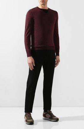 Мужской пуловер из смеси кашемира и шелка SVEVO бордового цвета, арт. 0671SA19/MP06/2   Фото 2