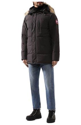 Мужская пуховик с меховой отделкой carson CANADA GOOSE серого цвета, арт. 3805M | Фото 2 (Статус проверки: Проверена категория; Длина (верхняя одежда): До середины бедра; Материал утеплителя: Пух и перо; Материал внешний: Синтетический материал; Мужское Кросс-КТ: Пуховик-верхняя одежда, Верхняя одежда, пуховик-короткий; Рукава: Длинные; Кросс-КТ: Куртка; Материал подклада: Синтетический материал)