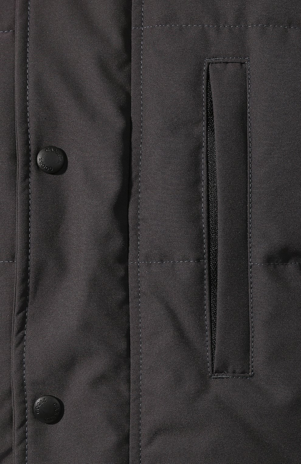 Мужская пуховая парка с меховой отделкой carson CANADA GOOSE серого цвета, арт. 3805M   Фото 5