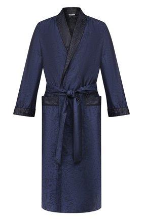 Мужской хлопковый халат ZIMMERLI темно-синего цвета, арт. 4737-75141 | Фото 1