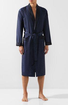 Мужской хлопковый халат ZIMMERLI темно-синего цвета, арт. 4737-75141 | Фото 2