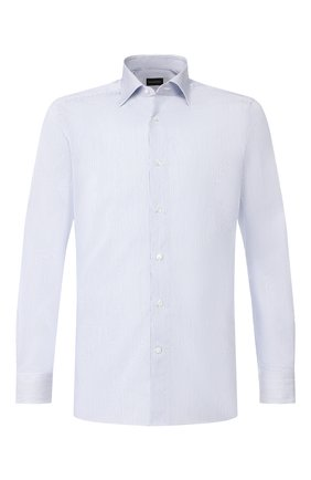 Мужская хлопковая сорочка ERMENEGILDO ZEGNA голубого цвета, арт. 601412/9MS0BR | Фото 1