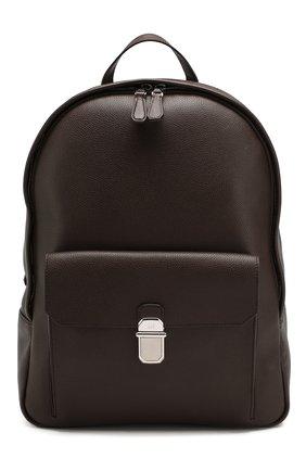 Мужской кожаный рюкзак DUNHILL темно-коричневого цвета, арт. DU19F3720AR | Фото 1
