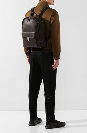 Мужской кожаный рюкзак DUNHILL темно-коричневого цвета, арт. DU19F3720AR | Фото 2