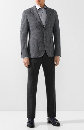 Мужская хлопковая сорочка VAN LAACK серого цвета, арт. RIVARA-TF/160708 | Фото 2