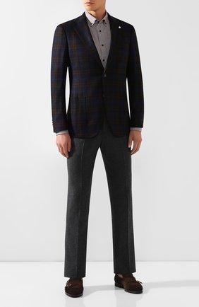 Мужская хлопковая рубашка VAN LAACK светло-коричневого цвета, арт. R0Y-SF/156381 | Фото 2