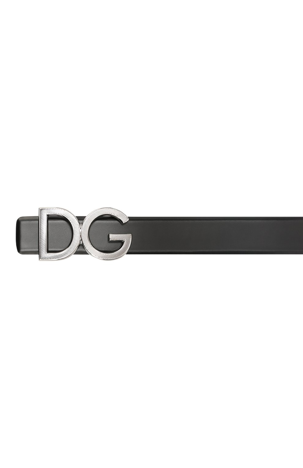 Мужской кожаный ремень DOLCE & GABBANA черного цвета, арт. BC4312/A1607 | Фото 3