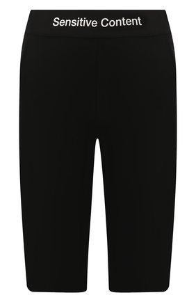 Женские шорты PALM ANGELS черного цвета, арт. PWCB011E197020401010 | Фото 1