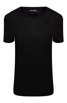 Женская футболка из смеси шелка и шерсти TOM FORD черного цвета, арт. TSJ259-FAX544 | Фото 1