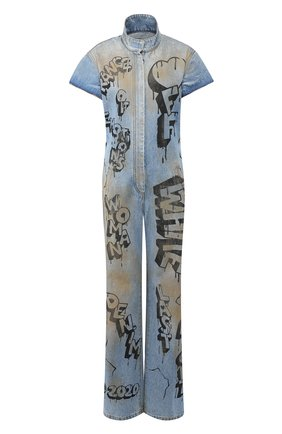 Женский джинсовый комбинезон OFF-WHITE синего цвета, арт. 0WY0001F197730627110 | Фото 1