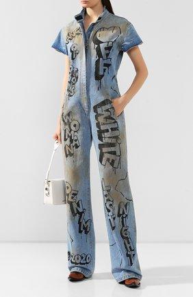 Женский джинсовый комбинезон OFF-WHITE синего цвета, арт. 0WY0001F197730627110 | Фото 2