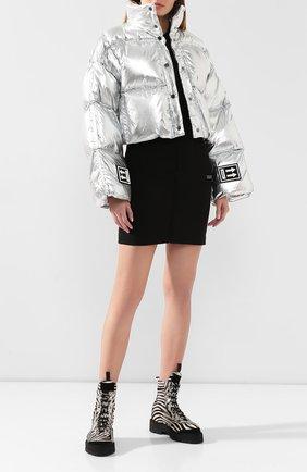 Женский пуховая куртка OFF-WHITE серебряного цвета, арт. 0WEA192F19F760509100 | Фото 2