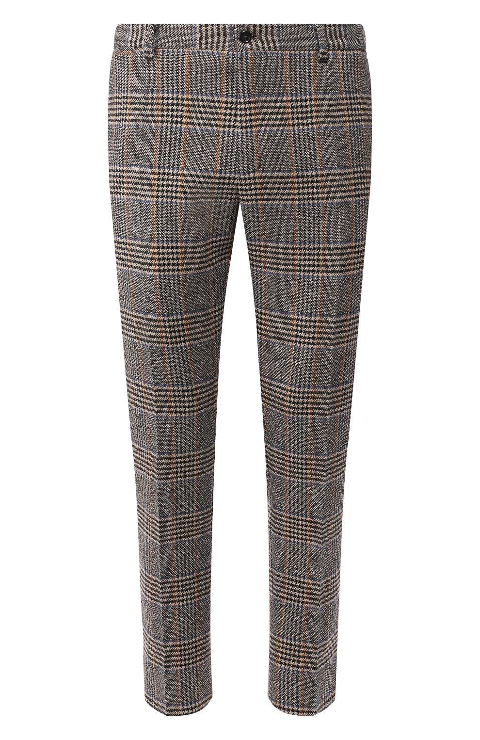 Мужские шерстяные брюки DOLCE & GABBANA бежевого цвета, арт. GY6FET/FQRA7 | Фото 1