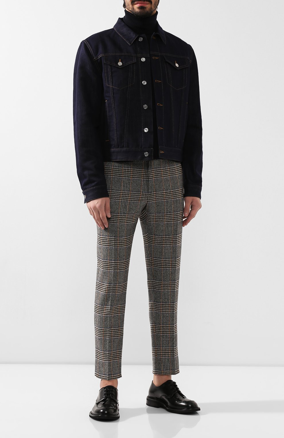 Мужские шерстяные брюки DOLCE & GABBANA бежевого цвета, арт. GY6FET/FQRA7 | Фото 2