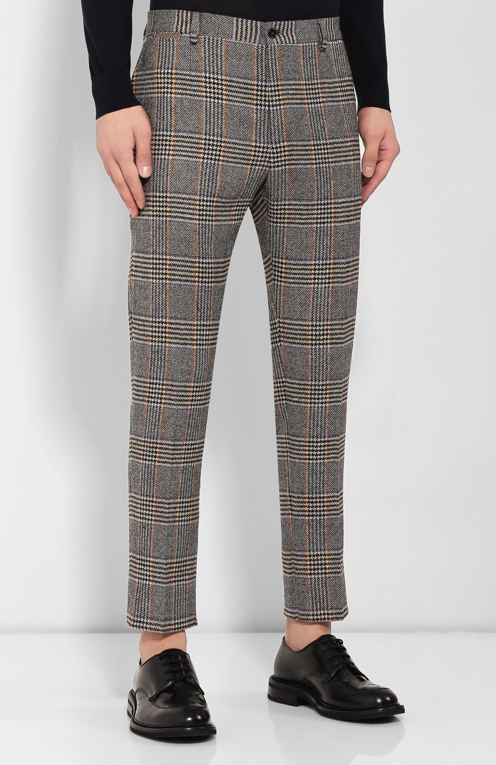 Мужские шерстяные брюки DOLCE & GABBANA бежевого цвета, арт. GY6FET/FQRA7 | Фото 3