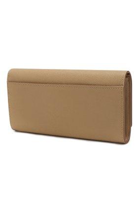 Женские кожаный кошелек BURBERRY бежевого цвета, арт. 8018939   Фото 2