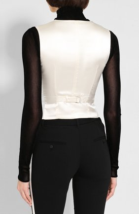 Женский шерстяной жилет DOLCE & GABBANA черно-белого цвета, арт. F79T2T/FU1CJ   Фото 4
