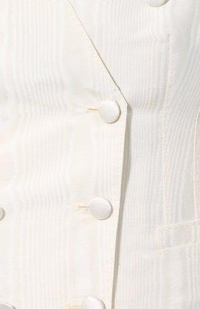 Женский шерстяной жилет DOLCE & GABBANA черно-белого цвета, арт. F79T2T/FU1CJ   Фото 5