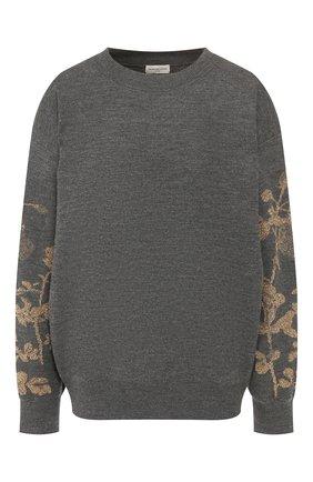 Женская шерстяной пуловер DRIES VAN NOTEN темно-серого цвета, арт. 192-11204-8726 | Фото 1
