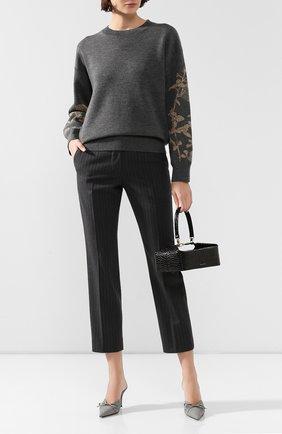 Женская шерстяной пуловер DRIES VAN NOTEN темно-серого цвета, арт. 192-11204-8726 | Фото 2
