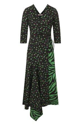 Женское платье с принтом DOROTHEE SCHUMACHER зеленого цвета, арт. 542004/EX0TIC ESCAPE | Фото 1
