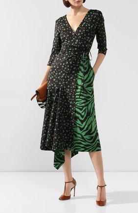 Женское платье с принтом DOROTHEE SCHUMACHER зеленого цвета, арт. 542004/EX0TIC ESCAPE | Фото 2